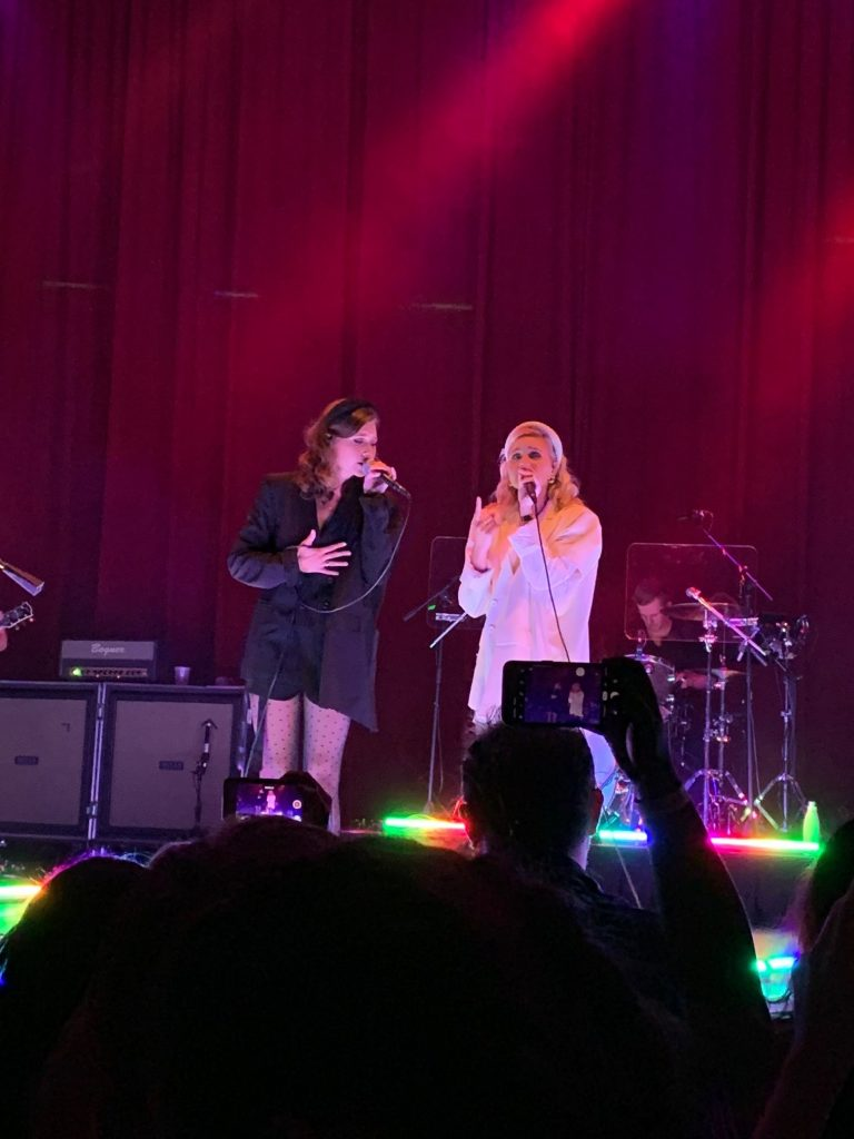 Aly & AJ on stage